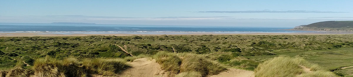 Braunton Burrows overlooking Saunton Sands