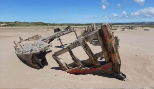 old boat wreck at Crow Point